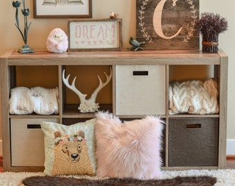 Woodland Decor / Faux Bear Rug / woodland nursery / Baby room decor