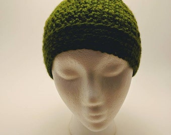 Handmade crochet ponytail/messy bun beanie