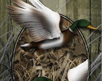 Duck Hunter Camo Blades LAMINATED Cornhole Wrap Bag Toss Decal Baggo Skin Sticker Wraps