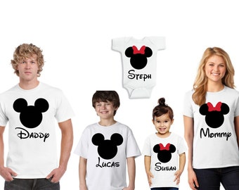Disney Family Shirts, Mommy and Daddy shirts, Disney inspired shirts, Disney family vacation shirts, Disney family shirts inspired