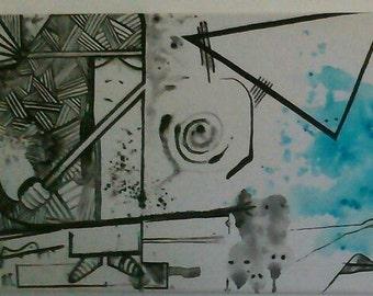 canvas 100x30 ACRYLIC PAINTING