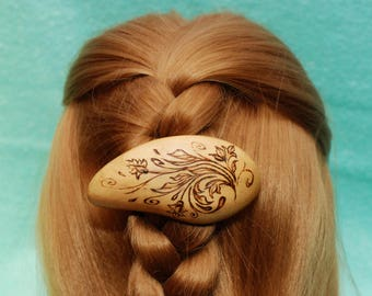 Hair Barrette, Wooden Shawl Pin, Barrette, Haarstab, Hair Pin, Stick, Wedding Hair, Hair Slide, Wooden Shawl Pin,Hair Comb,Wood Carving