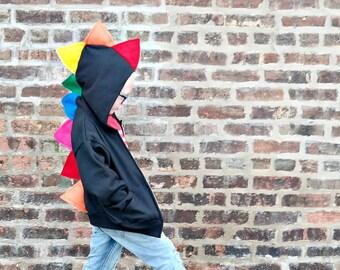 Rainbow Baby Toddler Dino Hoodie - Dinosaur Birthday Party Gift, Rainbow Dinosaur Hoodie,  Toddler Dinosaur Costume , Rainbow Dinosaur Party