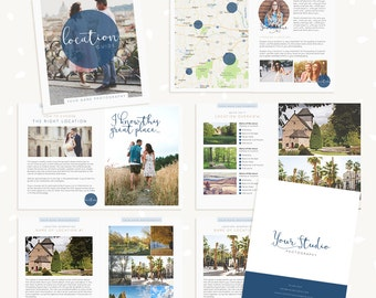Location Guide Template, Photography Magazine, Welcome guide, 10 pages, Template for photographers, Magazine Template, Photoshop Template