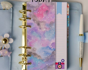 Galaxy Today/This Week/This Month Page Marker For Ring Bound Planners & Happy Planners