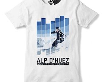 Alp D'Huez Annual Ski Season T Shirt Skiing Top Layer Fashion Apres Tshirt 489