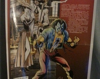 Vintage Shadow Man Advertising Poster/Valiant/Comic Book Ad/1993