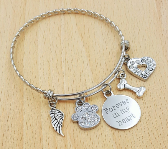 Pet Memorial Bracelet Loss of Dog Bracelet Loss of Pet Bracelet Loss of Cat Loss of Pet Gift Loss of Family Pet Gift Pet Remembrance Jewelry