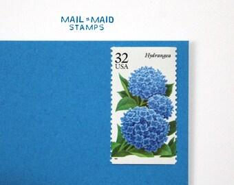 Hydrangeas    Set of 10 unused postage stamps