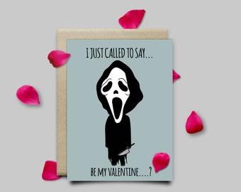 Ghostface Scream Horror Valentines Card