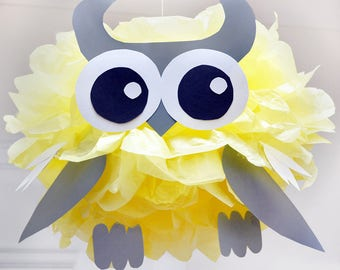 Owl - Tissue Paper Pom Pom Animal Kit