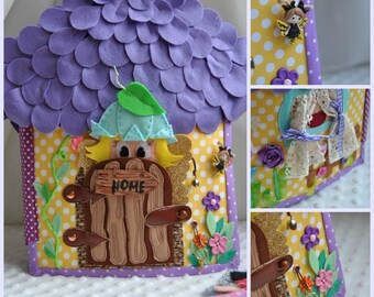quiet book Dollhouse Fairy Doll of felt Busy book Education Personalized quiet book fairy book