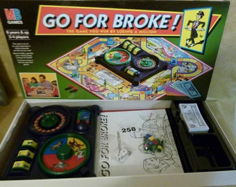 Go For Broke Game Complete 1993 Vintage Family Fun the game you win by losing a Million