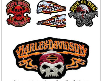 Skull and crossbones patch Etsy