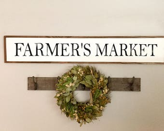 Farmers Market Sign | Farmers Market | Farmhouse Sign | Farmhouse Decor | Kitchen Decor
