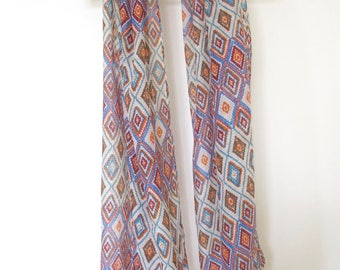 Colourful diamond patterned scarf