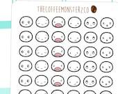 emoti heads pt.6  - emoti planner stickers E116