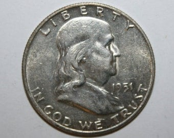1951-D AU++ Franklin Silver Half Dollar Free Shipping