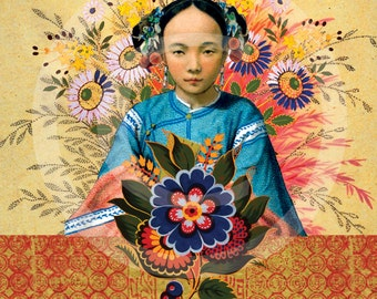 Asian Print, Asian Wall Art, Asian Art Prints, Asian Artwork, Asian Prints, Chinese Girl, China, Chinese Girl Print, Asian Decor, Asian Art