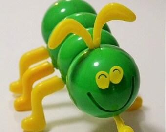 Cootie Bug-Vintage green Cootie Bug-Cootie game pieces-Replacement bug-Game room decor-Kids room decor-Vintage game parts-Cootie game-1973