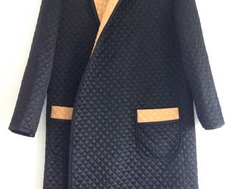 Reduced~~ Vintage Gentlemen's Quilted Smoking Jacket / Robe Dressing Gown