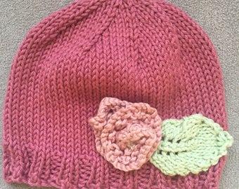 Newborn Gift Baby Girl Hat, Pink Newborn Hat for Baby Girl, Newborn Hospital Hat Photo Prop Pink,