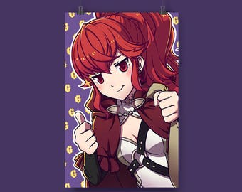 "Thumbs Up: Anna Fire Emblem x Konosuba 11x17"" Print"