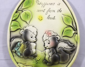 Funny Vintage Happiness is Scent from the Heart Romantic Wall Hanging