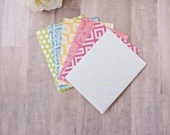 Set of 12 Random Patterned Handmade A2 Envelopes, Pretty Envelopes, Colorful Envelopes, Scrapbook Paper Envelopes, Scrapbooking Envelope