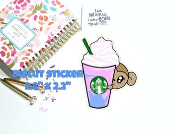 Unicorn Frappe Monkey - Diecut