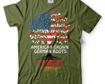 American Grown German Roots T-Shirt American German Patriotic Tee Shirt