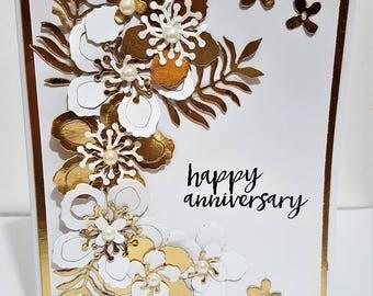 Happy Anniversary Gold Card