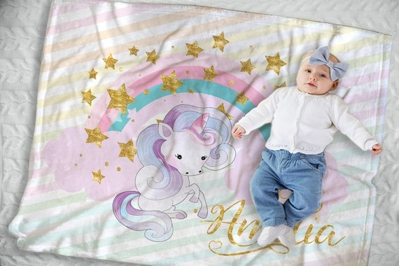 unicorn baby blanket unicorn nursery decor unicorn baby. Black Bedroom Furniture Sets. Home Design Ideas