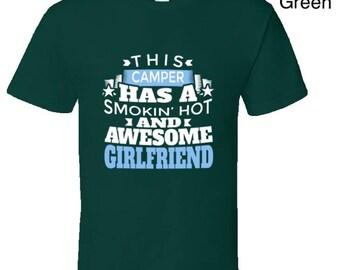 Funny camping t shirt,Camping Shirt, Camping Tshirt,Camping Gift,Camping Gear,Camping Life,bbq t shirt,campfire camping,Awesome Girlfriend