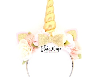 Unicorn Headband-Unicorn horn headband-headband-Baby Headband-Toddler Headband- Hair Bows- headbands-Diy Kit-Unicorn Headband Kit