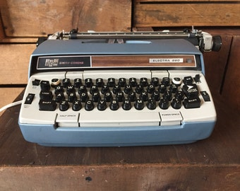 Vintage Smith-Corona, Electra 220, Electric Typewriter, 1960s, Home Decor, Industrial, Vintage Typewriter, Mid Century Decor, Photo Prop.