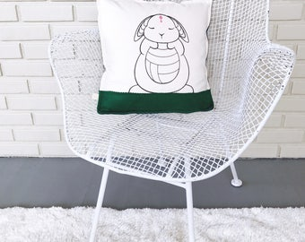 Bunny Pillow / Woodland Decor / Easter Decor / Woodland Bunny / Woodland Nursery