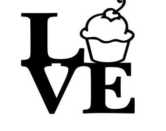 Cupcake Love Decal