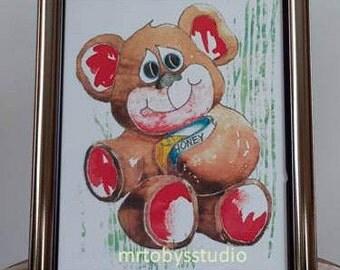 Bear Nursery Art, Bear Nursery Wall Art, Kids Room Art, Bear Wall Art, Children's Room Art, Nursery Room Art, Boys Room Art, Girls Room Art