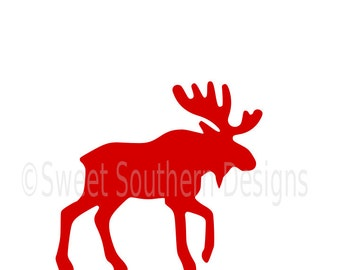 Moose silhouette winter Christmas SVG instant download design for cricut or silhouette