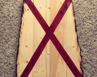 Wooden state of Alabama sign