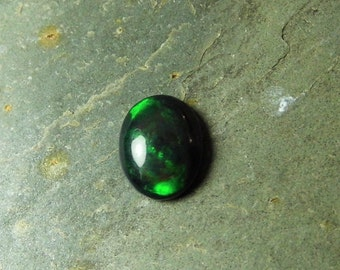 Ethiopian Black Opal Cabochon Black Opal Gemstone Welo Smoked Opal 9x7mm