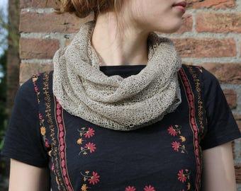 "Organic linen infinity scarf, ""Andryala"""