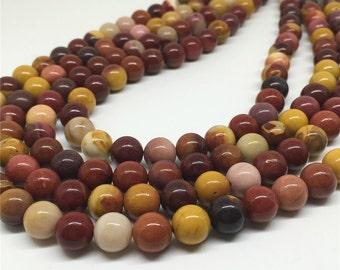 8mm Mookaite Beads, Round Gemstone Beads, Wholesale Beads
