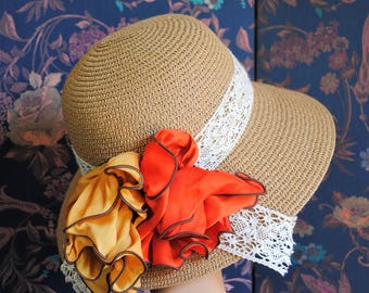 Woman straw hat