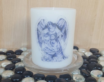 """Scented """"Garden of Gethsemane"""" pillar candle#the night before crucifixion#comfort from Archangel Chamuel#Luke 22#facing challenges ahead"""