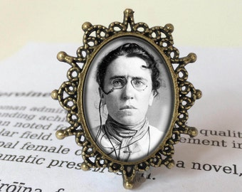 Emma Goldman Brooch - Anarchy Jewelry, Feminist Icon Brooch, Women's Movement Pin, Anarchist Pin, Feminist Gift, Emma Goldman Jewellery