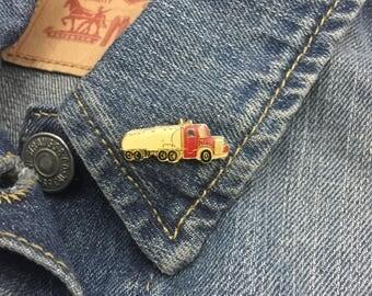 Vintage Semi Truck Tanker Pin (stock# 798) hat pin, lapel pin, enamel pin, big rig, tractor trailer, mac, trucker, driver