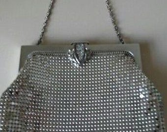 Vintage Signed Whiting and Davis Mesh Evening Bag