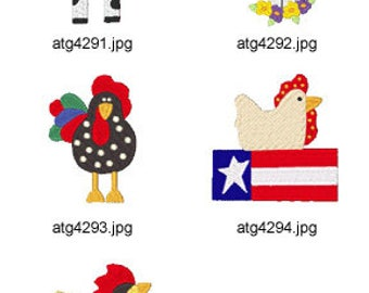 Chicken-and-Cows-2 ( 5 Machine Embroidery Designs from ATW ) XYZ17D